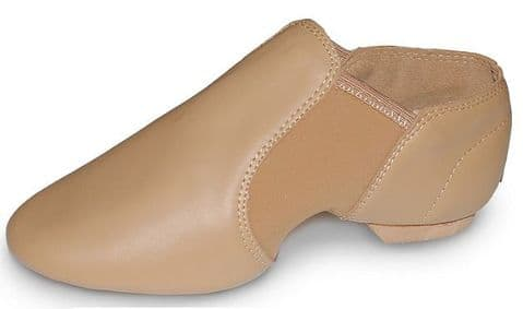 Tan Slip On Leather Split Sole Jazz Shoe