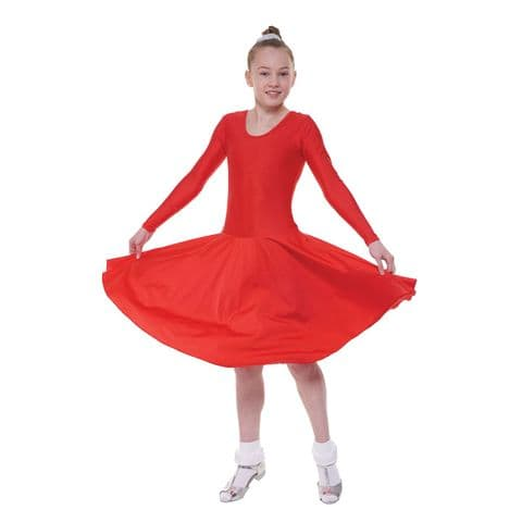 Tappers and Pointers Long Sleeve Ballroom/4 Standard Length Dress