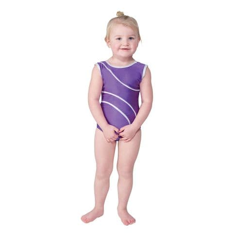 Tappers & Pointers Detail/1 Sleeveless Gym Leotard in Purple