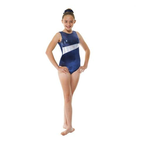 Tappers & Pointers Gym 17 No Sleeve Velvet Leotard in Navy