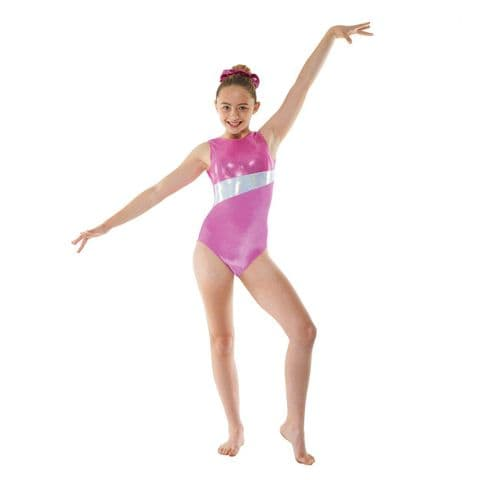 Tappers & Pointers Gym 17 No Sleeve Velvet Leotard in Pink