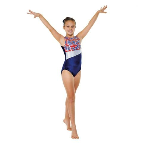 Tappers & Pointers Gym 25 No Sleeve Union Jack Leotard
