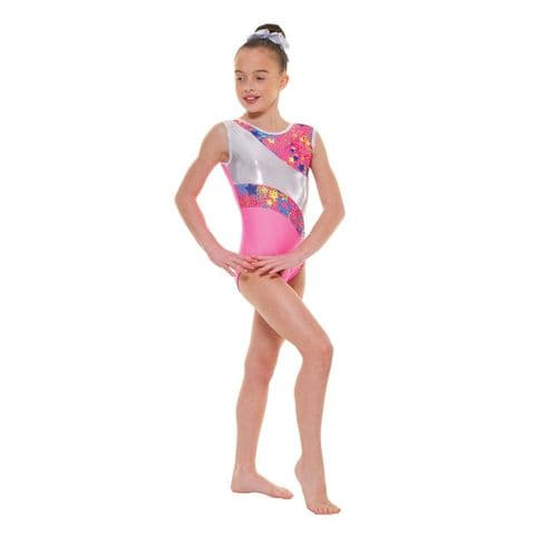 Tappers & Pointers Gym 39 No Sleeve Leotard in Flo Pink