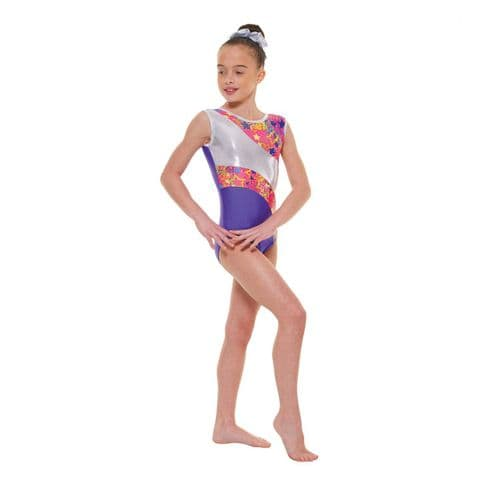 Tappers & Pointers Gym 39 No Sleeve Leotard in Purple