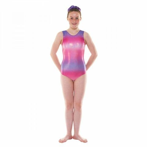 Tappers & Pointers Gym/47 Sleeveless Ombre Gym Leotard in Pink & Purple
