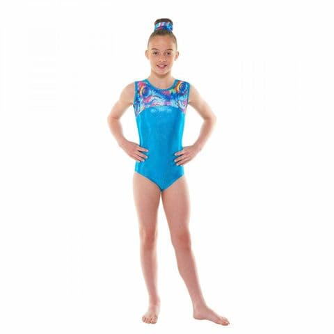 Tappers & Pointers Gym 48 Sleeveless Meteor Shine Gym Leotard