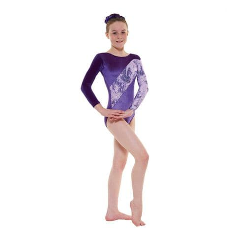 Tappers & Pointers Gym 7 Leotard Grape Purple