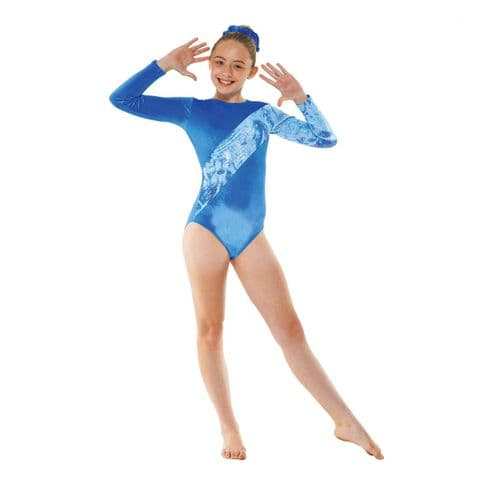 Tappers & Pointers Gym 7 Leotard Royal Blue