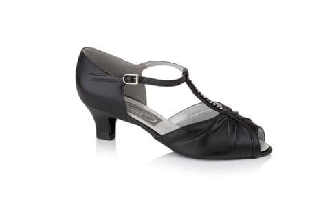 Topaz Ballroom Dance Shoe by Dance Steps in Black