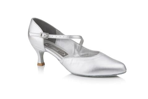 Venus Ballroom Dance Shoe by Dance Steps in Silver