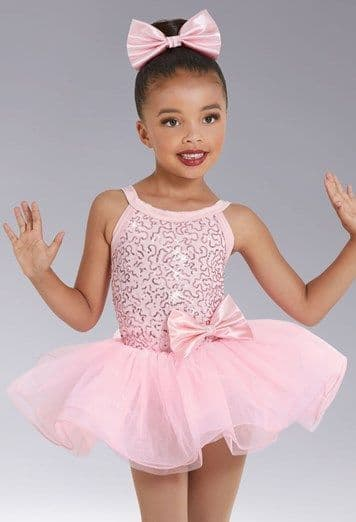 Weissman 12410 '60th Anniversary ' Sequin Tutu dress in Pale Pink