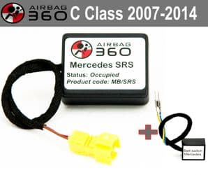 Mercedes  C W204 Front  Passenger Seat mat Occupancy Sensor, occupied recognition sensor  emulator /