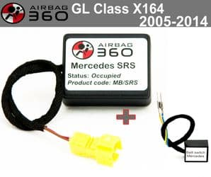Mercedes GL CLASS X164   Passenger Seat mat Occupancy Sensor, occupied recognition sensor  emulator
