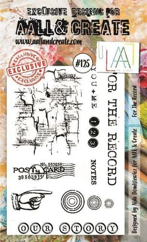 #125 A6 Stamp for the record AALL & Create Stamp