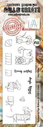 #168 Border Stamp Long Wishes AALL & Create Stamp