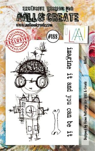 #188 Robot A7 stamp AALL & Create Stamp