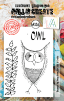 #306 Owl A7 Stamp AALL & Create Stamp
