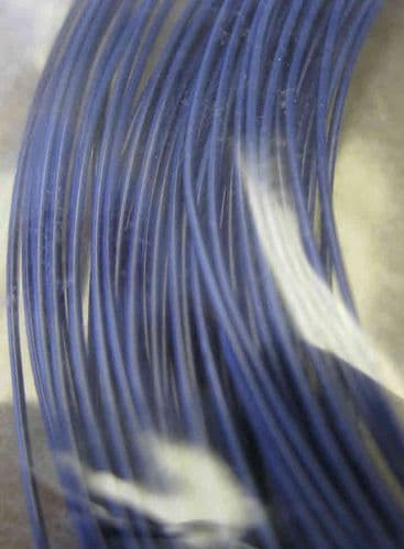0.5mm x 15m coloured copper wire - opaque blue