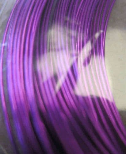 0.5mm x 15m coloured copper wire - supa violet