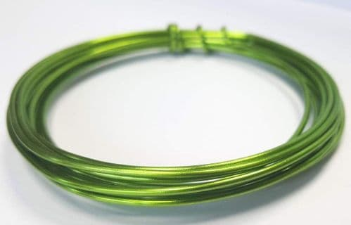1.5mm x 3m wire - Parrot Green