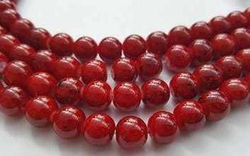 10mm Glass bright drawbench round beads (20) Crimson Red