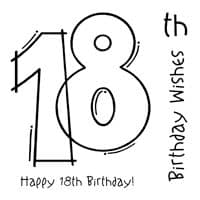 18th Birthday Clear Woodware Stamp