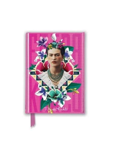 A6 Frida Kahlo Pink Foiled Journal