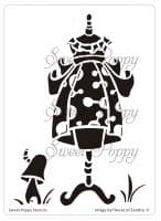 Alice (Dress 7 ) Sweet Poppy Stencil