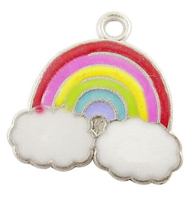 Alloy Enamel Charms - Rainbow (Pack of 2)