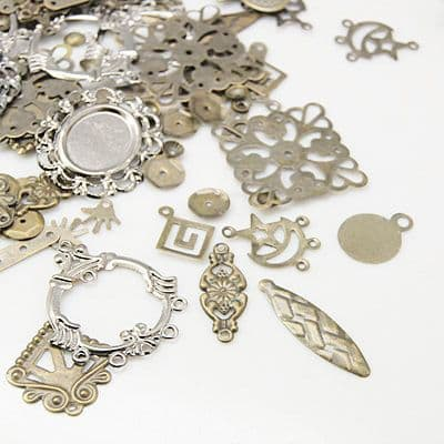 Altered Art Assorted Iron Findings Grab Bag - 15g