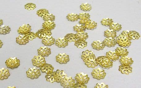 Bead Caps - Gold - Pack of 100