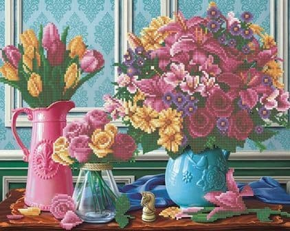 Beautiful Blooms 40x50cm Crystal Art Kit