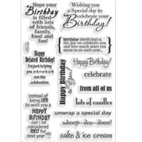 Birthday Assortment Stampendous Clear Stamp Set (SSC1115)