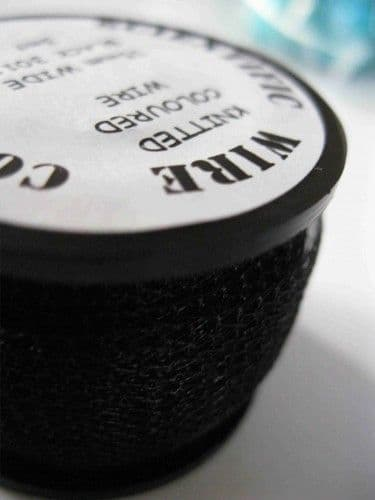 Black  0.1mm Knitted Wire (15mm wide x 1m)