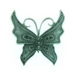Butterfly Charm Steampunk style antique silver