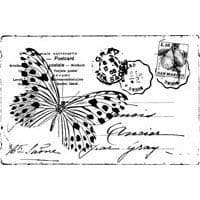 Butterfly Post Stampendous Cling Stamp (CRP147)