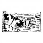 Butterfly Ticket Crafty Individuals Stamp (CI-005)