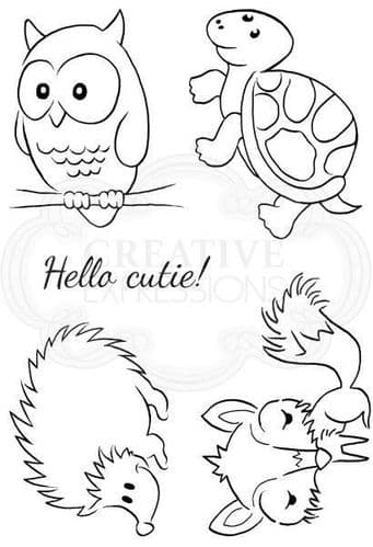 Cheeky Critters Clear Woodware Stamp (JGS651)