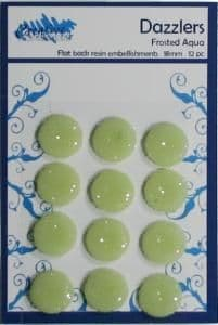 Circle Dazzlers - 18mm (Pack of 12) - Frosted Aqua