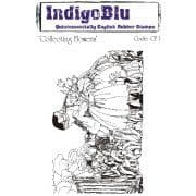 Collecting Flowers IndigoBlu A6 Mounted Stamp