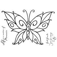 Curly Butterfly Clear Woodware Stamp