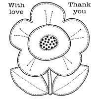 Daisy Patch Clear Woodware Stamp (FRS005)