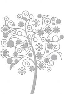 Embossing Folder - Serenity Collection - Far Away Tree