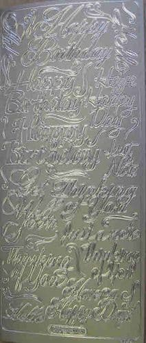 Everyday Messages Silver Peel-Off Sticker