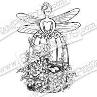 Fairy Aviary Stampendous Cling Stamp (CRR245)