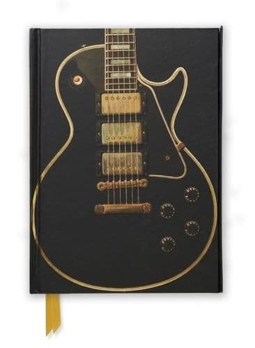 Gibson Black Les Paul Guitar Foiled Notebook