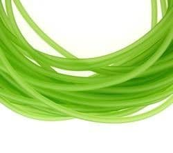 Hollow Rubber Tubing - 2mm wide - Light Green (1m)