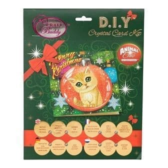 Kitten Bauble Crystal Art Card Kit
