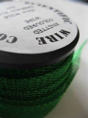 Knitted Craft Wire - 15mm x 3m - Emerald