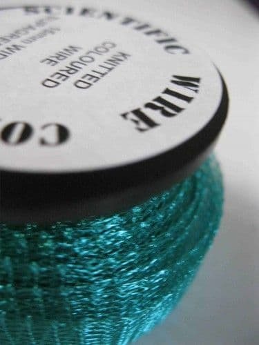 Knitted Craft Wire - 15mm x 3m - Supa Green